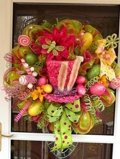Spiral Deco Mesh Wreaths, Mesh Valentines Wreaths for 2014 Lovers Day