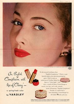 An English Complexion with lips of Cherry . From Duke Digital Collections. Collection: Ad*Access