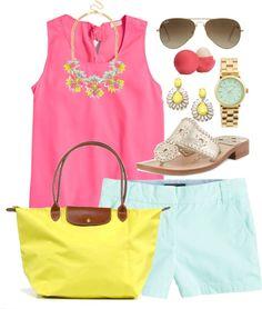 color palettes, spring outfits, shoe, live color, bright colors
