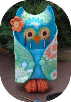 Owl Crochet Hook Holder   <3
