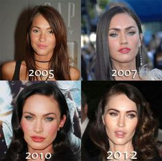 Megan Fox before and after; pity