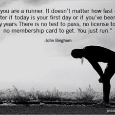 If you run, you are a runner.