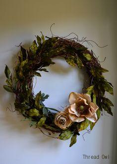 Summer Magnolia Wreath by threadowl on Etsy, $49.99