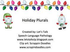 Let's Talk Speech-Language Pathology: Materials Monday - Holiday Plurals