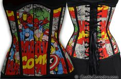 Marvel Long Line Corset. $275.00, via Etsy.  WANT.