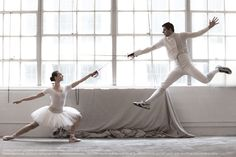 """""""The fencer and the ballerina""""    Olympian Tim Morehouse Aesthete photo shoot"""