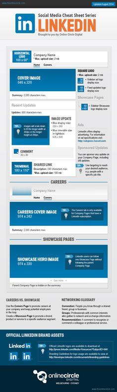 Social Media Cheat Sheet Series LinkedIn - #SocialMedia #LinkedIn #Infographic