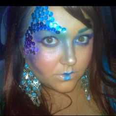 This was meant to be a mermaid look I did for a last minute party
