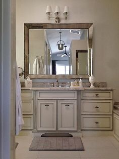 Gray and Green Wallpapered Powder Room with Sculpted Vanity : Designers' Portfolio : HGTV - Home & Garden Television
