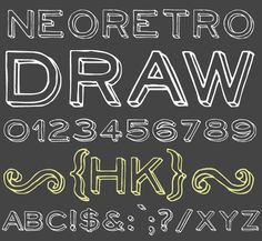 NeoRetroDraw font {free}