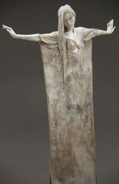 Beautifully Oxidized Bronze Sculptures of Elongated Women - My Modern Metropolis