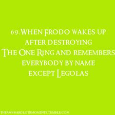 The Awkward Lord of the Rings Moments