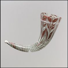 Glass drinking horn, Italy, ca. 576-625, Metropolitan Museum of Art collection