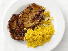 Chili-Rubbed Pork Chops #FNMag #myplate #protein