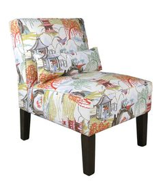 Love this Coral Neo Toile Armless Chair on #zulily! #zulilyfinds