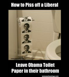 Obama Toilet Paper $5.99 from Jackass Toys. Ya know you want it!