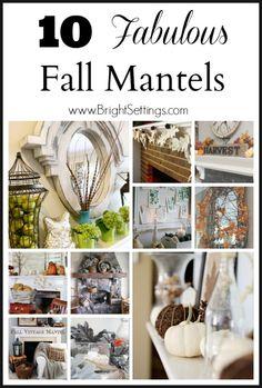 10 Fabulous Fall Mantels