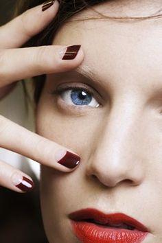 Half moon manicure #nails