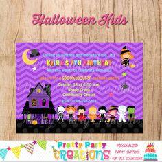 HALLOWEEN KIDS invitation  halloween party by PrettyPartyCreations
