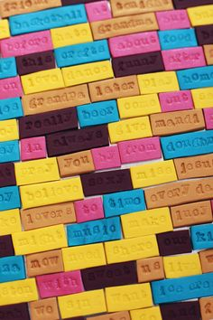Make Your Own Clay Word Magnets