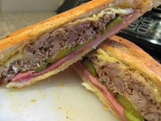 Homemade Sandwiches Cubanos