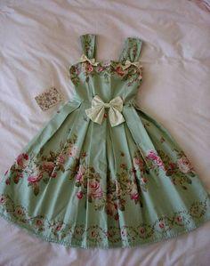 sage flowers, style, vintage little dresses, handbag, party dresses, paper dresses, fashion vintage, sweet dress, vintage roses, vintage inspired, little girl dresses