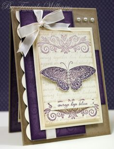 pretty! I have so many butterfly stamps!  I need to use them!