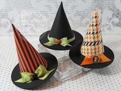 halloween witches, witch hats, idea, halloween hat, halloween crafts, witchhat, scrapbook paper, halloween templates, awesom templat