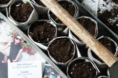 DIY Seed Starting: Newspaper Pots: Gardenista