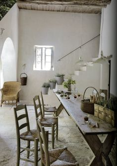 dining rooms, interior, country cottages, country houses, french farmhouse