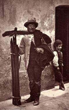 The Chimney Sweep...c1876..Victorian London.Taken by Photographer John Thompson & writer Adolphe Smith..