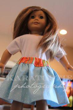American Girl Doll peppermint skirt TUTORIAL