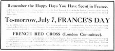 French Red Cross. 6 July, 1915.