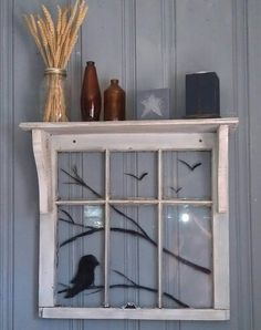 Old Window handpaint
