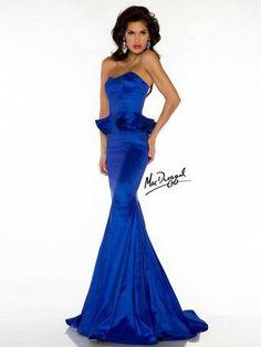 Mac Duggal Peplum Waist Pageant Gown style 61566D