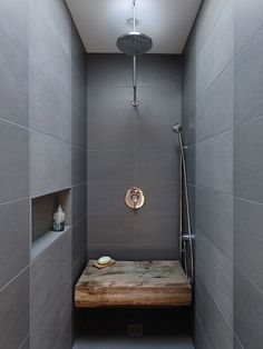 rustic wood in the shower!!