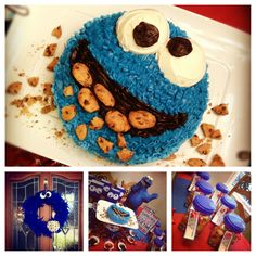 Cookie Monster birthday theme