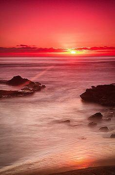 Sunset Cliffs at Sunset, San Diego