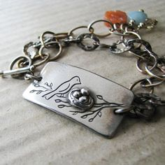 My Little Nest Artisan PMC Jewelry OOAK Fine by SilverWishes, $122.00