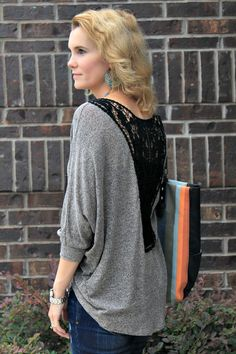 Easing Into Fall with a Hi-Low Crochet Back Sweater #fashion #outfitideas #falloutfitideas #sweater #hilow