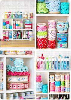 Yarn Ribbon and Crafty Storage Inspiration from Craft and Creativity