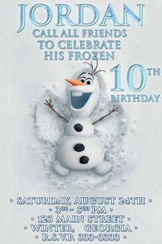 Disney Frozen Birthday party Invitation card digital от VintageDS, $9.99