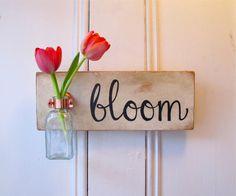 Wall Flower Vase, Antique Bottle, Bloom,