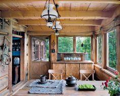 dom drewniany wnętrze