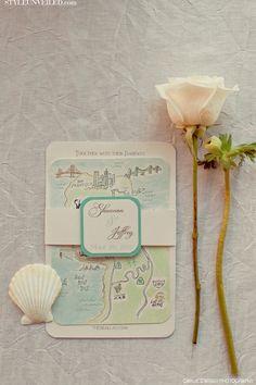 Wedding Map Invitation map inspir, map invite