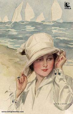 Lovely VIntage Seaside lady.