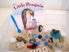 The Little Penguin by A. J. Wood - Arctic Life Sensory Bin with Book