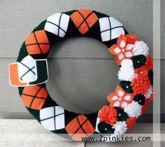 Miami Hurricanes wreath