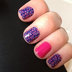 Budding Cobalt nail wraps by Jamberry Nails