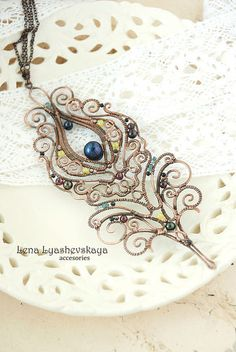 Intricate wire work pendant
